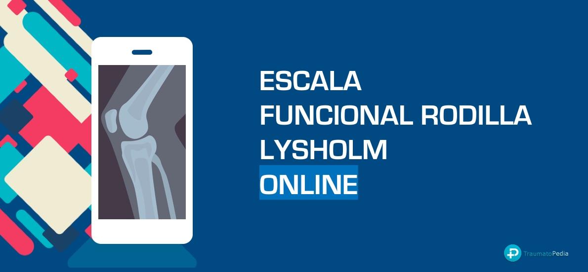 ESCALA FUNCIONAL RODILLA LYSHOLM ESPAÑOL ONLINE