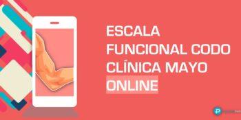 Escala funcional de codo de la Clínica Mayo - Calculadora online.