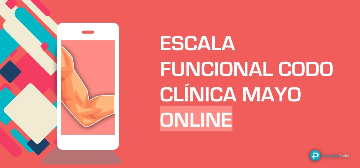 ESCALA FUNCIONAL CODO CLINICA MAYO ESPAÑOL ONLINE