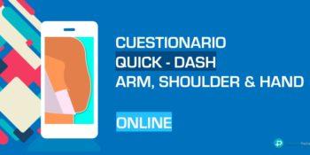 ▷ Cuestionario Quick DASH en Español para hombro, codo y mano - Online