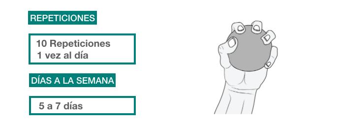 ejercicios rehabilitación epicondilitis _ pelota de goma