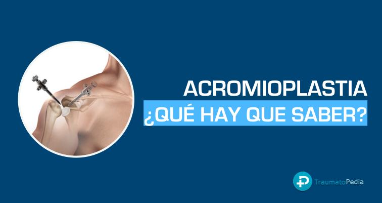 artroscopia acromioplastia de hombro