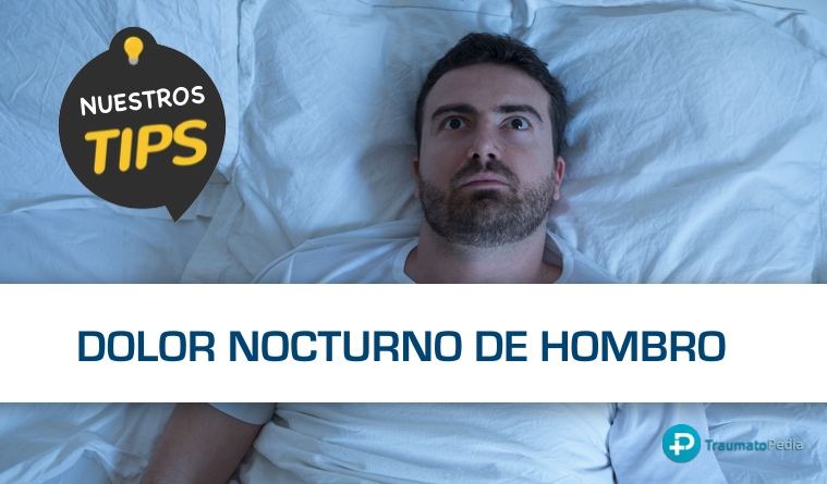 Dolor de hombro por la noche por tendinitis de manguito rotador o supraespinoso