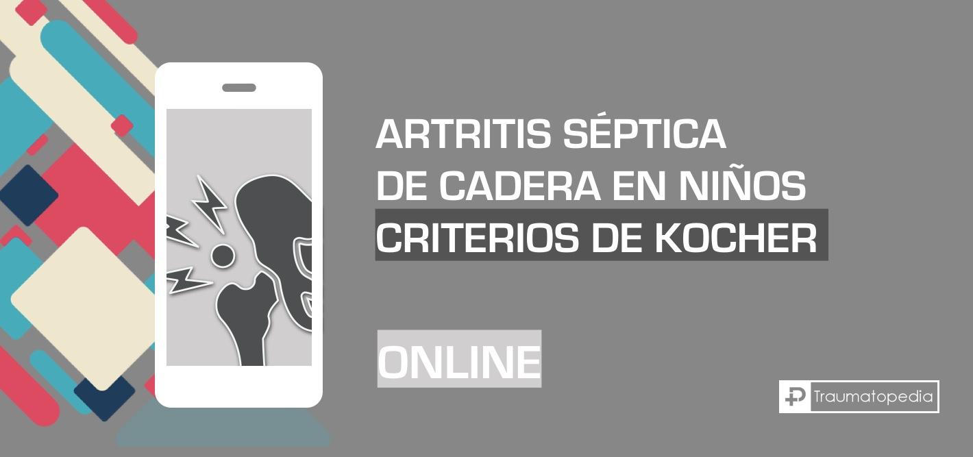 Criterios de Kocher online - Artritis séptica cadera